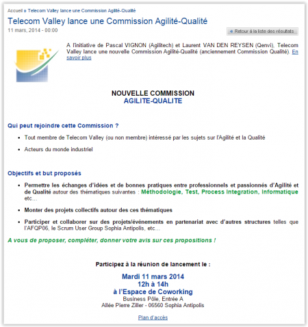 Agilitech membre commission agile sophia telecom valley
